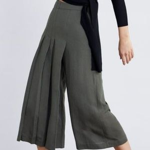 Zara Front Pleated Wide Leg Pants